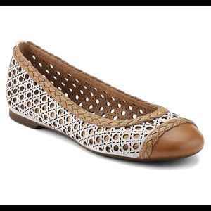 Sperry Clara Perforated Leather Ballet Flats